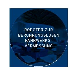 Roboter zur berührungslosen Fahrwerksvermessung